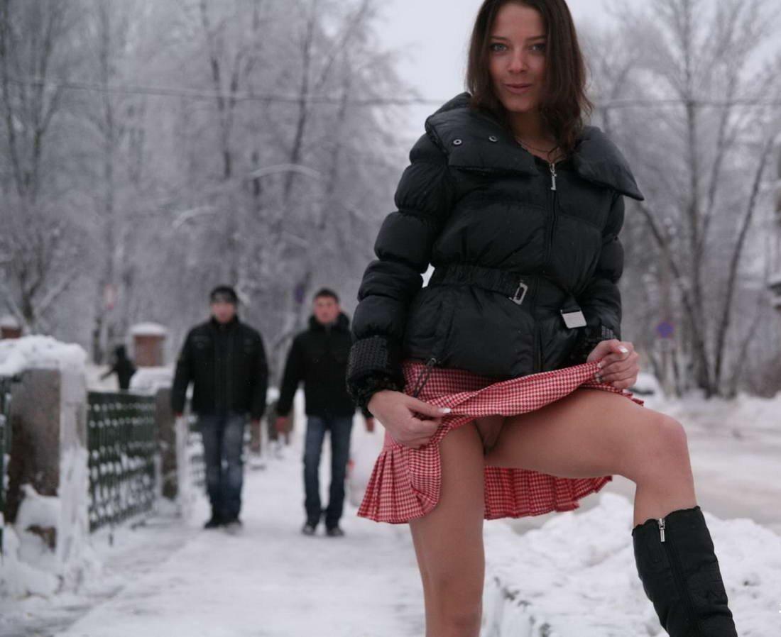 Порно русские зимой