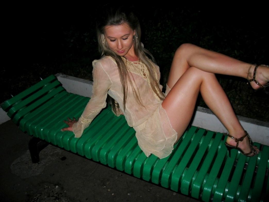 порно в ночном парке